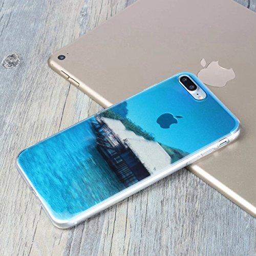 MOONCASE iPhone 7 Plus Coque, Ultra Mince Motif Etui TPU Silicone Antichoc Housse Case pour iPhone 7 Plus (Paysage 07) Paysage 04