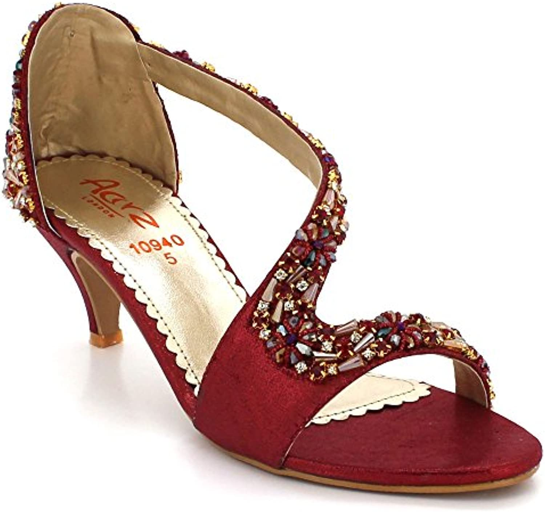 2eaeff2f2f7f14 aarz londres wo mesdames crystal bout ouvert soirée soirée soirée bal  nuptial diaFemmete talon haut partie mariage sandales de chaussures...b07dqs25hv  ...