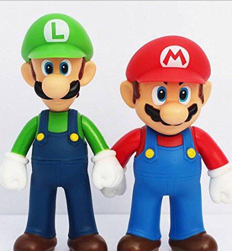 3pcs/set Super Mario Bros Luigi Mario Yoshi PVC Action Figures toy 13cm by Brand New 2