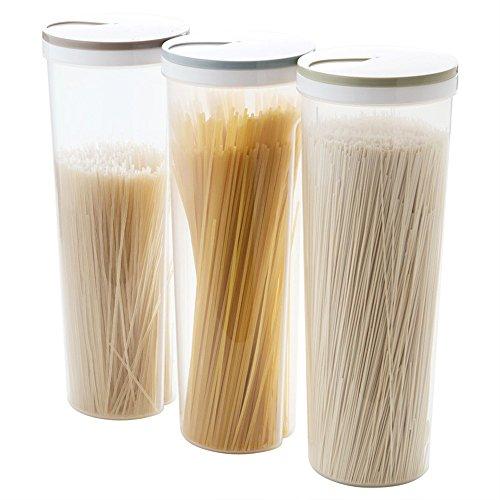 erthome Neue Multifunktions Spaghetti Box Besteck Snacks Nudel Aufbewahrungsbox Stäbchen Boxen getreide Lagerung Make-Up Box Küche Lieferungen (Klar B) (Besteck Aufbewahrungsboxen)