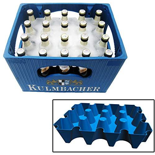 Monsterzeug Bierkühler, Eisblockform für Bierkisten, Für Kasten mit 20 x 0,5 l Flaschen, blau