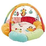 Fehn 074611 3-D-Activity-Nest Safari / Besonders weicher Spielbogen mit 5 abnehmbaren Spielzeugen für Babys Spiel & Spaß von Geburt an / Maße: Ø85cm