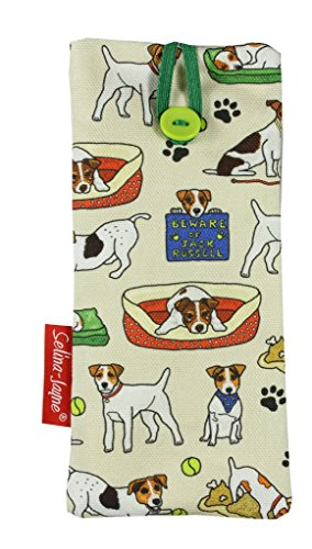 Selina-Jayne Jack Russell Limited Edition Designer Weiches Gewebe Brillenetui (Rettungs-jack)