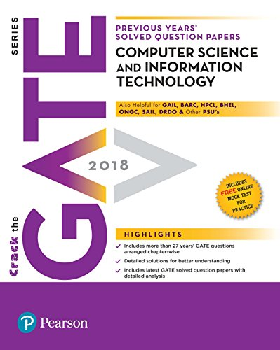 Previous Years' Solved Question Papers GATE 2018 Computer Science and Information Technology