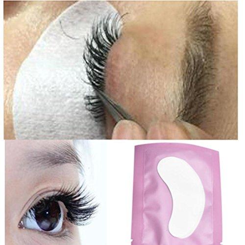 kingko® 50 paires professionnel Lint libre sous les yeux Gel Pad Patches pour les extensions de cils