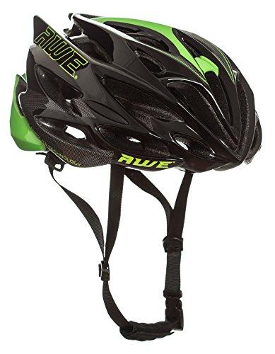 AWE® AWESpeed™ In-Mould Helm Erwachsene Männer Straßen-Radsport 58-61cm Schwarz-Grün-Carbon