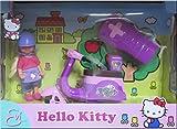 Evi Love-Hello Kitty-Evi mit ihrem ferngesteuertem Roller (Scooter) mit Infrarot-Fernbedienung