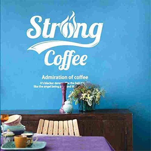 wandaufkleber 3d Wandtattoo Kinderzimmer Kaffee-Aufkleber-Nahrungsmittelabziehbild-Café-Plakat-Kunst-Dekor für Kaffeestube -