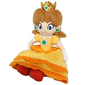 NINTENDO - Peluche Mario Bros Sanei 18cm Princesse Daisy