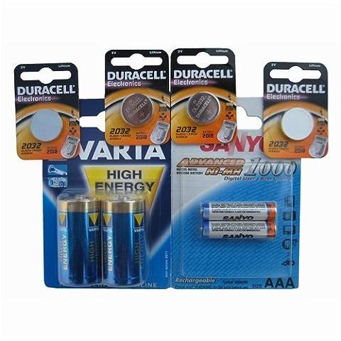 Duracell-pile bouton au lithium dL2450 sous emballage blister 3 v au lithium 3 v
