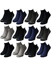 12 Paar modische Sneaker Socken Damen, Herren, Teenager schwarz, weiß, farbig, Größe:39-42, Farbe:12 Paar / Herren / No. 4023