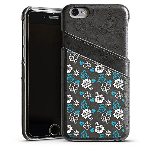 Apple iPhone 4 Housse Étui Silicone Coque Protection Fleur Rétro Motif Étui en cuir gris