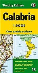 Kalabrien Strassenkarte, Karte, Landkarte, TCI (Touring Club Italiano) Blatt 13, Calabria / Kalabrien, Catanzaro, Cosenza, Crotone,