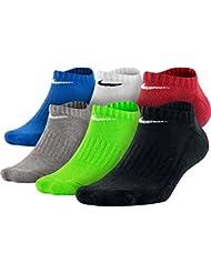 Nike 6PPK Boys Band CTN NSHW-Boys L - Pack 6 pares de calcetines para niño, color rojo, talla Única