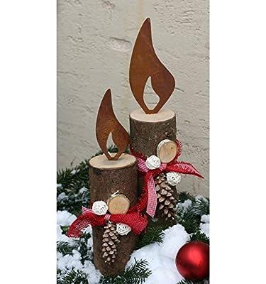 Edelrost Flamme 3er Set - Rost Flammen je 1 x 10 cm, 1 x 15 cm, 1 x 20 cm von Metallmichl auf Du und dein Garten