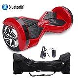 Cool&Fun Hoverboard/Skateboard/Gyropode Éléctrique Auto-équilibrage Bluetooth Scooter Trottinette Électrique 8 Pouces, (RedB)