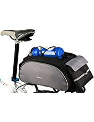 MILKIRAY - Bolsa de transporte para bicicleta, para asiento, cesta o parte trasera, Black 3
