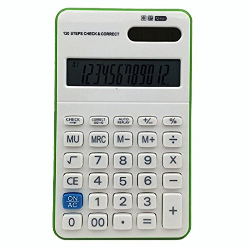ZHAS Multi-Function Calculator, 12-Digit Display Calculator Solar Power Supply For Office/Shop/School, Etc. (Briefcase Solar Panel)