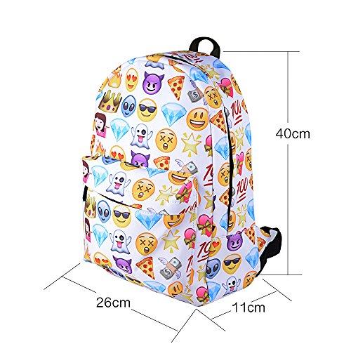 Imagen de emoji  escolar mujer  colegio casual  moderna lona para chica + bolso pequeño alternativa