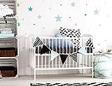 """I-love-Wandtattoo WAS-10454 Kinderzimmer Wandsticker Set """"Pastell Sterne in tollen Blau"""