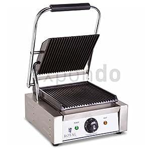 Royal Catering - RCCG-1K - Grill à panini électrique - 220 V - 1800 W - max. 300° C