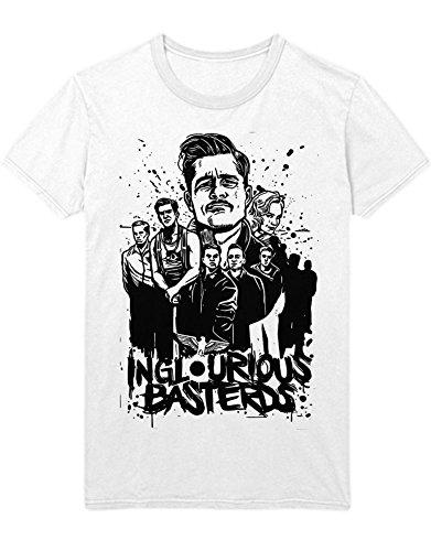 T-Shirt Inglourious Basterds Brad Pitt Quentin Tarantino C549347 Weiß M