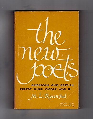 New Poets: American and British Poetry Since World War II