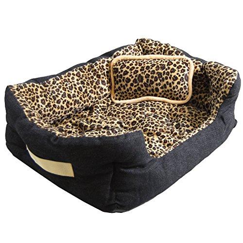 ett Hundebett Katzenbett Gepard ca. 52x40x16cm inkl. Innenkissen + Schmusekissen ()