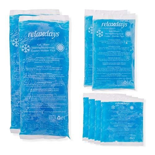 Relaxdays Pack 8 Bolsas Frío Calor Reutilizables