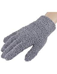 Femmes / Filles d'hiver Finger chaud Gants en peluche, 1 paire,gris