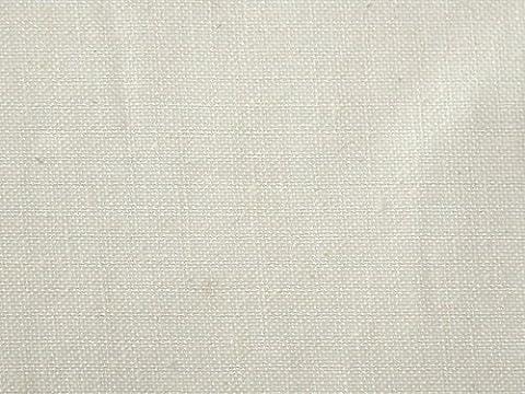 Uni Coton et Ramie Tissu aspect lin Blanc cassé–au mètre