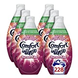 Comfort Intense Sunset Kiss Fabric Conditioner, 3.42 L - 228 Washes (38 Washes x Pack of 6)
