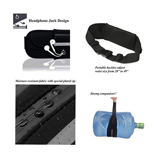 49dbc424e4f4 Adofo Running Belt Waist Pouch for Men + Women, Holds Smart Phones +  Accessories. Best Fitness Gear for Hands-Free Workout