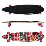 HENGDA Longboard Street Board Cruiserboard Skateboard Komplettboard ABEC 7 Kugellager (Skateboard Pink Alphabet)