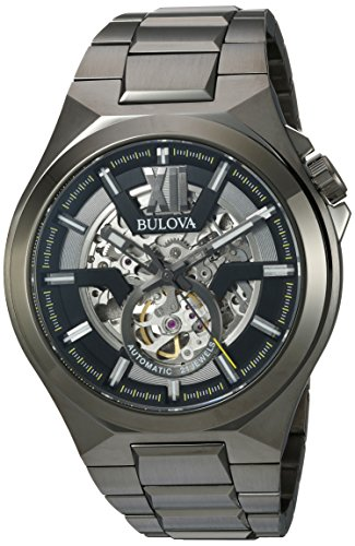 Bulova Men's Automatic Stainless Steel Casual Watch, Color Grey (Model: 98A179)
