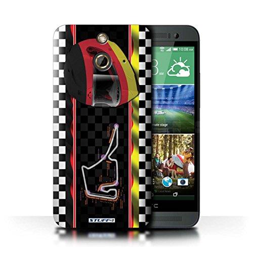 Kobalt® Imprimé Etui / Coque pour HTC One/1 E8 / Italie/Monza conception / Série F1 Piste Drapeau Allemagne