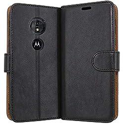 Case Collection Étui de Style Portefeuille avec Rabat pour Coque Motorola Moto E5 en Cuir de première qualité avec emplacements Carte de crédit et Monnaie pour Motorola Moto E5 Coque