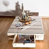 relaxedLiving Table d'appoint en palettes avec tiroir