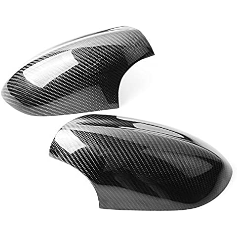 New Real Carbon Fiber Side Mirror Cover Trim L&R For BMW E90 E92 E93 M3 3-Series 2008-2011