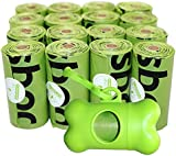 Usboo's Biodegradable Dog Poo bags X 240 Bags with Dispenser Doggy Poo Bags X 16 Rolls Eco Poop Bags For Dogs Bio Dog Waste Bags