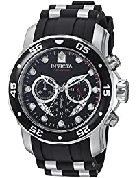 Invicta Pro Diver Men's Chronograph Quartz Watch with Polyurethane Strap – 6977