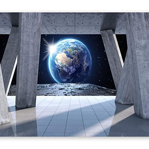 murando - Fototapete 400x280 cm - Vlies Tapete - Moderne Wanddeko - Design Tapete - Wandtapete - Wand Dekoration - Mond Kosmos Architektur Erde Erdball Planet Himmel n-C-0008-a-c