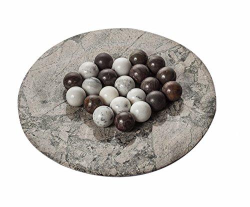 t (in gemischten Farben) Marmorkugel Marmorkügelchen, weiß oder braun, stilvolles Wohnaccessoire Dekolement Marmor Kugel Naturstein, Maße Ø: 2,8cm Gewicht pro Stück: ca.40g ()