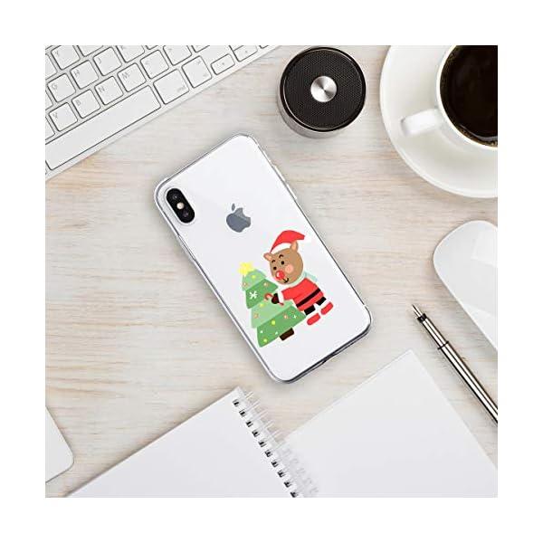 Oihxse Case Compatible con Huawei Honor 20 Pro Funda Transparente Silicona Suave Carcasa Protectora Navidad Santa Deer… 3