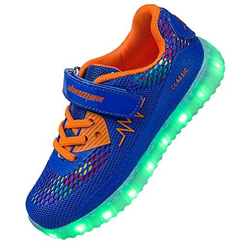 Shinmax ragazzo scarpe led 7 colori usb ricaricabile ragazzo scarpe da ginnastica illumina trainer lampeggiante sneakers con certificato ce per halloween natale giorno del ringraziamento