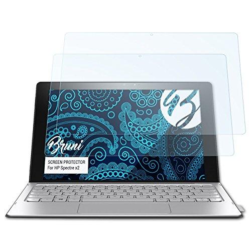 Bruni Schutzfolie kompatibel mit HP Spectre x2 Folie, glasklare Bildschirmschutzfolie (2X)