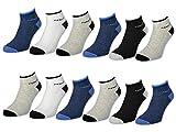 4 / 6 / 12 Paar Sport Sneaker Socken Herren mit Frotteesohle versch. Farben - 16210 (43-46, 12 Paar)