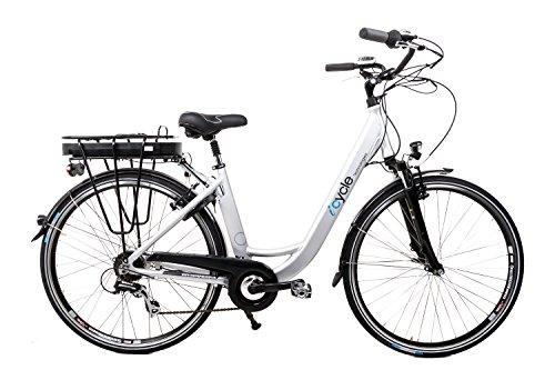 "28\"" Zoll Alu Damen Elektro Fahrrad E Bike Pedelec Shimano 8 Gang 36V 13Ah silber B Ware"