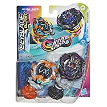 Beyblade Burst Rise Hypersphere Twin Pack Dusk Balkesh B5 and Right Artemis A5 - 1 Left and 1 Right Spin Battling Spinning Top from 8