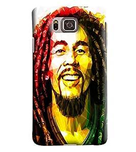 Blue Throat Bob Marley Printed Designer Back Cover/Case For Samsung Galaxy Alpha